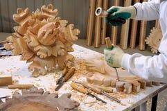 Soffitto di legno di ripristino Fotografia Stock