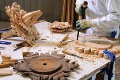 Soffitto di legno di ripristino Immagini Stock