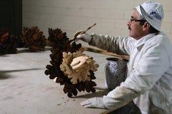 Soffitto di legno di ripristino Fotografia Stock Libera da Diritti