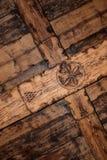 Soffitto di legno originale Fotografia Stock