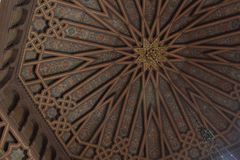 Soffitto di Los Angeles UCLA Powell Library dell'università di California immagini stock libere da diritti