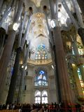 Soffitto di Sagrada Familia immagini stock libere da diritti