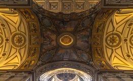Soffitto di Santa Maria Maggiore Basilica Fotografia Stock Libera da Diritti