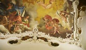 Soffitto di stile di rinascita nel museo delle arti orientali a Roma Italia Fotografia Stock Libera da Diritti