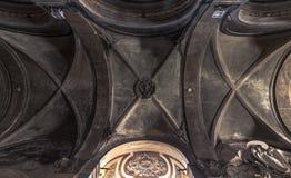 Soffitto di una chiesa cattolica, Roma Immagini Stock Libere da Diritti
