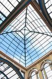 Soffitto di vetro del palazzo del Alexandra Immagini Stock