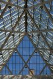 Soffitto di vetro e d'acciaio Immagini Stock