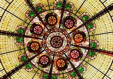 Soffitto di vetro macchiato Fotografie Stock