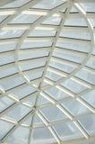 Soffitto di vetro trasparente, interno architettonico moderno Fotografie Stock Libere da Diritti