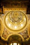 Soffitto dipinto del duomo di Napoli Immagini Stock Libere da Diritti