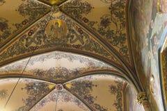 Soffitto dipinto della chiesa di St Peter e di St Paul Fotografia Stock