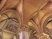 Soffitto dorato del Parlamento Immagini Stock