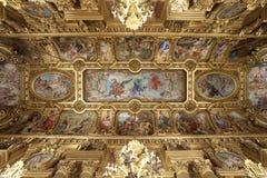 Soffitto dorato di Garnier di opera a Parigi Francia Fotografie Stock Libere da Diritti