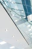 Soffitto e vetro Fotografia Stock