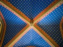 Soffitto gotico decorato Fotografie Stock Libere da Diritti