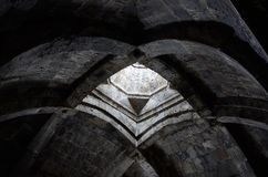 Soffitto incurvato della chiesa cristiana antica con, l'Armenia Immagini Stock Libere da Diritti