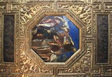 Soffitto nel palazzo dei doge a Venezia fotografia stock libera da diritti