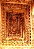 Soffitto ornamentale del corridoio dharbar del corridoio di ministero nel palazzo di maratha del thanjavur Fotografia Stock Libera da Diritti