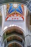 Soffitto variopinto della cattedrale di Almudena Immagine Stock Libera da Diritti