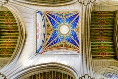 Soffitto variopinto della cattedrale di Almudena Fotografie Stock Libere da Diritti