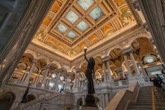Soffitto Washington della biblioteca del congresso Immagini Stock Libere da Diritti