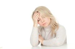 Soffrendo dal dolore, emicrania Fotografia Stock