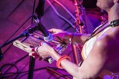 Sofi Hellborg Performs Photos libres de droits