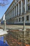 SOFIA, ΒΟΥΛΓΑΡΙΑ - 5 ΦΕΒΡΟΥΑΡΊΟΥ 2017: Χειμερινή άποψη της οικοδόμησης του υπουργείου Αμύνης στη Sofia Στοκ φωτογραφία με δικαίωμα ελεύθερης χρήσης