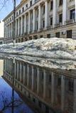 SOFIA, ΒΟΥΛΓΑΡΙΑ - 5 ΦΕΒΡΟΥΑΡΊΟΥ 2017: Χειμερινή άποψη της οικοδόμησης του υπουργείου Αμύνης στη Sofia Στοκ φωτογραφίες με δικαίωμα ελεύθερης χρήσης