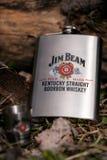 SOFIA, ΒΟΥΛΓΑΡΙΑ - NOVEMBE: Ρ 02, 2017: Jim Beam μετάλλων botlle σύνολο με το μπέρμπον Jim Beam είναι ένα από τα καλύτερα πωλώντα Στοκ Φωτογραφία
