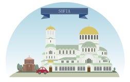 Sofia royalty-vrije illustratie