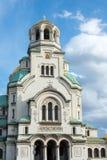 Sofia Alexander Nevsky kyrka arkivbilder