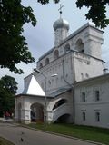 Sofia belfry (Veliky Novgorod, Russia) Stock Images