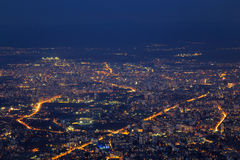Sofia bij nacht Royalty-vrije Stock Afbeelding