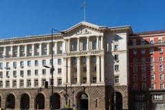 SOFIA BUŁGARIA, KWIECIEŃ, - 1, 2017: Budynek Poprzedni partia komunistyczna dom w Sofia Obrazy Royalty Free