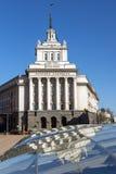 SOFIA BUŁGARIA, KWIECIEŃ, - 1, 2017: Budynek Poprzedni partia komunistyczna dom w Sofia Zdjęcia Stock