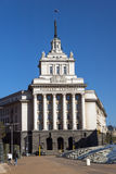 SOFIA BUŁGARIA, KWIECIEŃ, - 1, 2017: Budynek Poprzedni partia komunistyczna dom w Sofia Obraz Stock