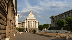 Sofia Bułgaria, Kwiecień, - 24, 2018: Centrum miasta Sofia kapitał Bułgaria zdjęcie wideo