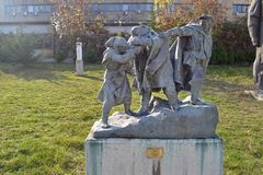 Sofia, Bułgaria, Listopad/- 2017: Stronnicza statua, fotografia royalty free