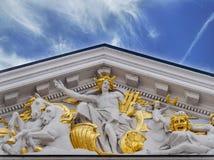 SOFIA BUŁGARIA, STYCZEŃ, - 03: Bułgarski teatr narodowy Ivan Vazov na Styczniu 03, 2017 w Sofia, Bułgaria Zdjęcia Royalty Free