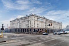 SOFIA BUŁGARIA, STYCZEŃ, - 03: Kredytowy Agricole Bułgaria na Serdica kwadracie na Styczniu 03, 2017 w Sofia, Bułgaria Fotografia Stock