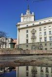 SOFIA BUŁGARIA, LUTY, - 5, 2017: Zima widok Poprzedni partia komunistyczna dom w Sofia Zdjęcie Stock