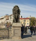SOFIA, BULGAIRA - OCTOBER 09, 2017: Lion bridge, build in 1889 Royalty Free Stock Images