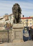 SOFIA, BULGAIRA - OCTOBER 09, 2017: Lion bridge, build in 1889 Royalty Free Stock Photo