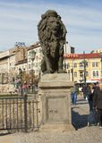 SOFIA, BULGAIRA - 9 OCTOBRE 2017 : Le pont de lion, construisent en 1889 Photo libre de droits