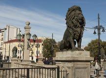 SOFIA, BULGAIRA - 9 OCTOBRE 2017 : Le pont de lion, construisent en 1889 Images libres de droits