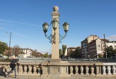 SOFIA, BULGAIRA - 09 OKTOBER, 2017: De leeuwbrug, bouwt 1889 in Stock Afbeeldingen
