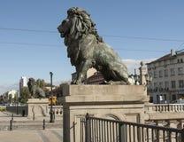 SOFIA, BULGAIRA - 09 OKTOBER, 2017: De leeuwbrug, bouwt 1889 in Royalty-vrije Stock Fotografie