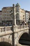SOFIA, BULGAIRA - 09 OKTOBER, 2017: De leeuwbrug, bouwt 1889 in Stock Afbeelding
