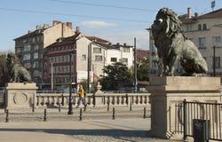 SOFIA, BULGAIRA - 09 OKTOBER, 2017: De leeuwbrug, bouwt 1889 in Royalty-vrije Stock Afbeelding